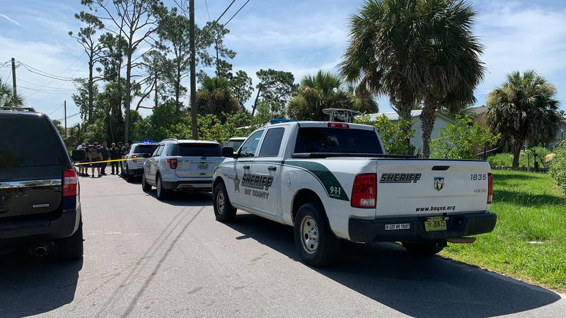 Investigator on the scene of a stabbing on Sunrise Drive in Panama City Beach.
