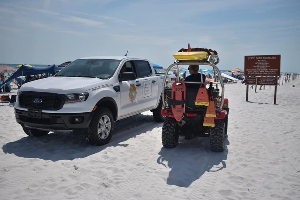 SWFD beach safety and ALS units responded Thursday to a shark bite incident in the area of...